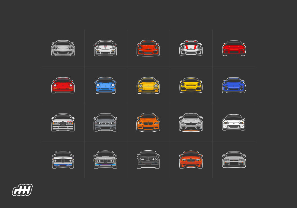 Stickershift Cars